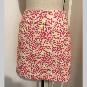 j crew floral mini skirt - side pockets